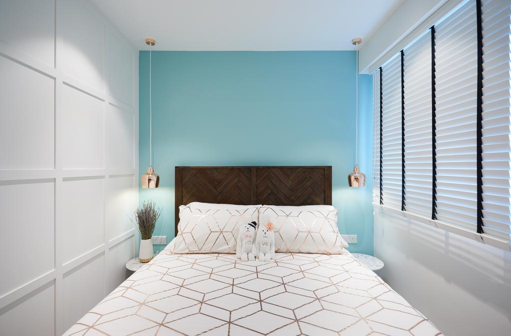 Contemporary, HDB, Bedroom, Woodlands, Interior Designer, Black N White Haus