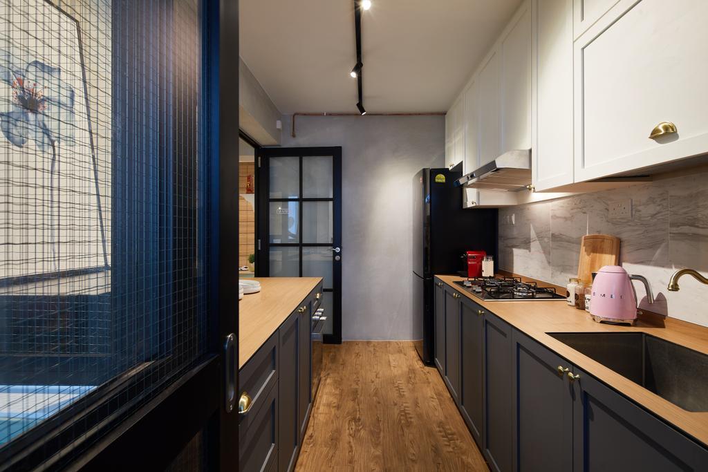 Contemporary, HDB, Kitchen, Woodlands, Interior Designer, Black N White Haus