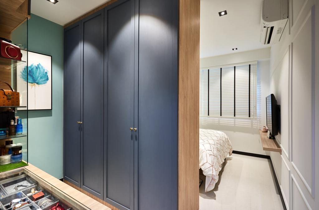 Contemporary, HDB, Woodlands, Interior Designer, Black N White Haus