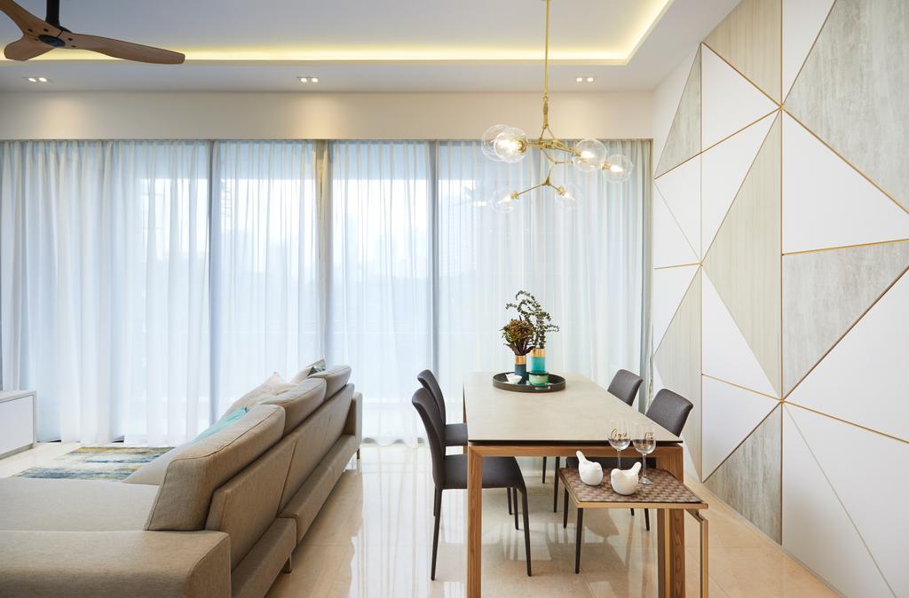 Contemporary, Condo, Dining Room, Balmoral Road, Interior Designer, Black N White Haus