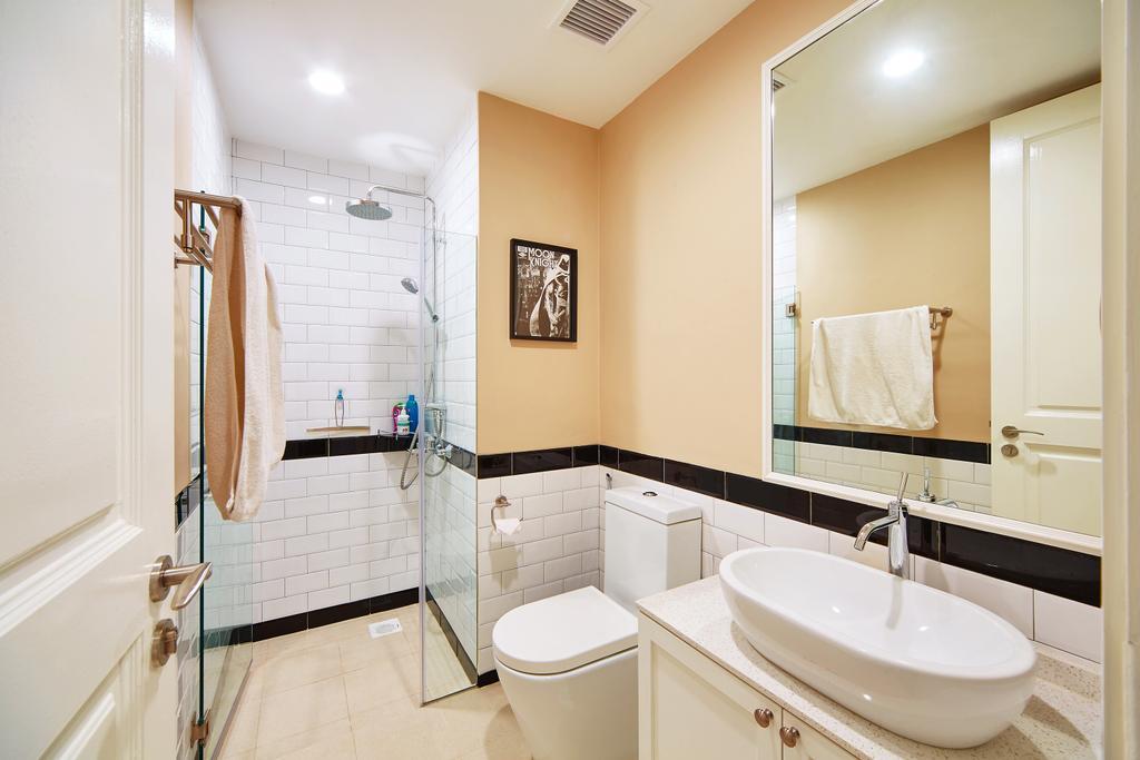 Condo, Bathroom, Bukit Timah Road, Interior Designer, Black N White Haus