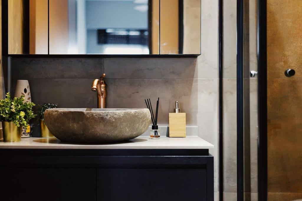 Industrial, HDB, Bathroom, Sumang Walk, Interior Designer, Authors • Interior & Styling