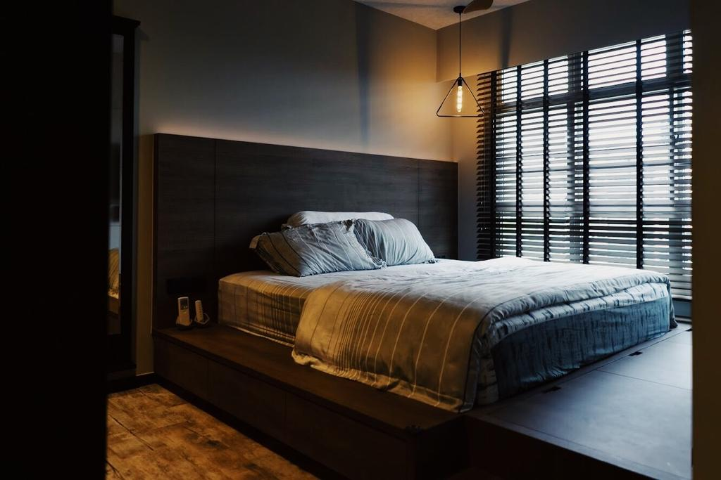 Industrial, HDB, Bedroom, Sumang Walk, Interior Designer, Authors • Interior & Styling