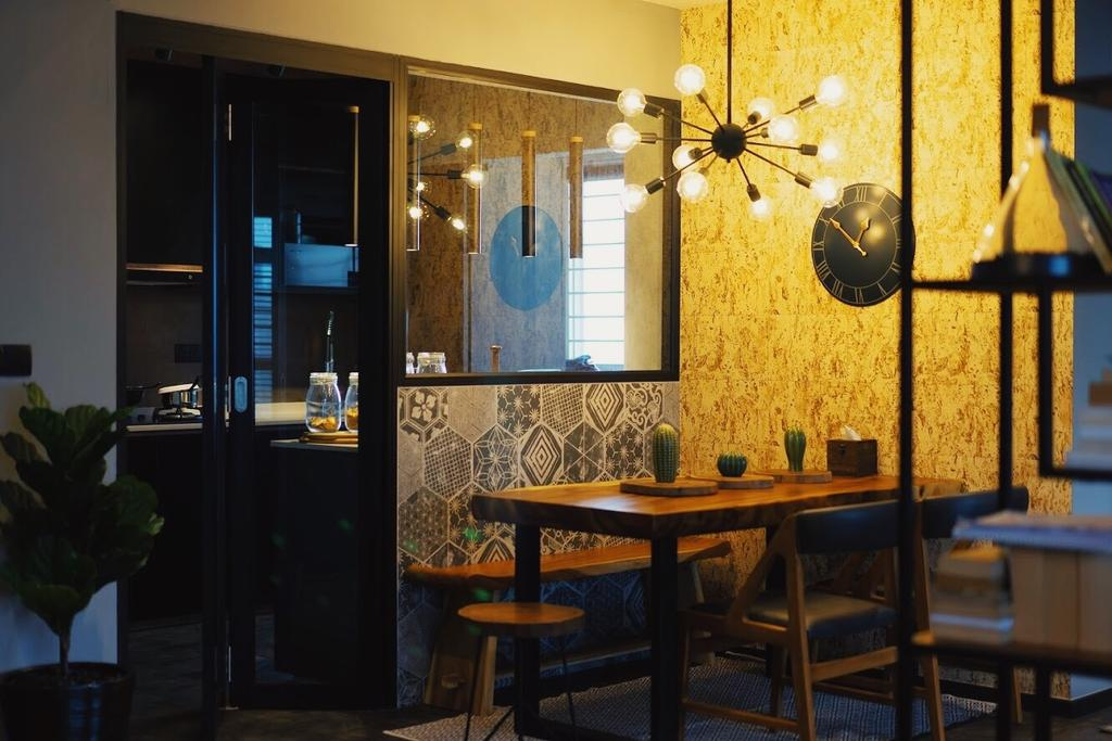 Industrial, HDB, Dining Room, Sumang Walk, Interior Designer, Authors • Interior & Styling