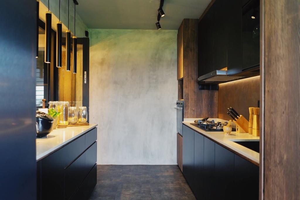 Industrial, HDB, Kitchen, Sumang Walk, Interior Designer, Authors • Interior & Styling