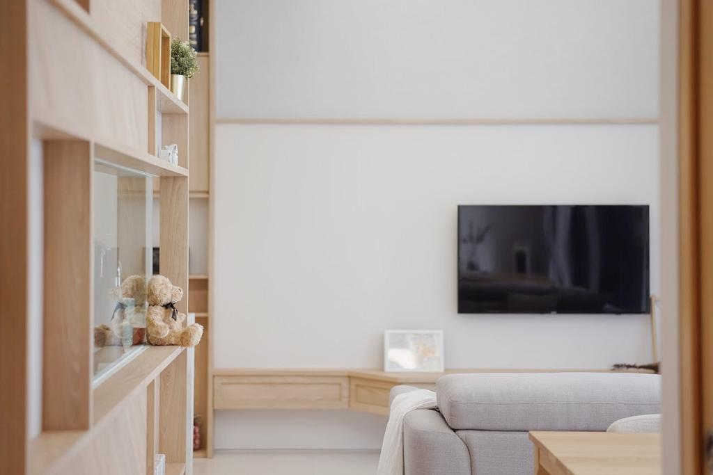 Scandinavian, Condo, Living Room, Toh Tuck Road, Interior Designer, Authors • Interior & Styling