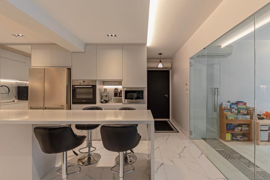 Contemporary, HDB, Dining Room, Edgedale Plains, Interior Designer, Tid Plus Design