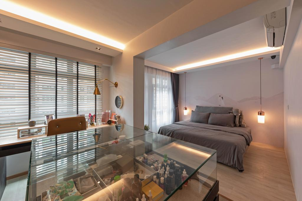 Contemporary, HDB, Bedroom, Edgedale Plains, Interior Designer, Tid Plus Design