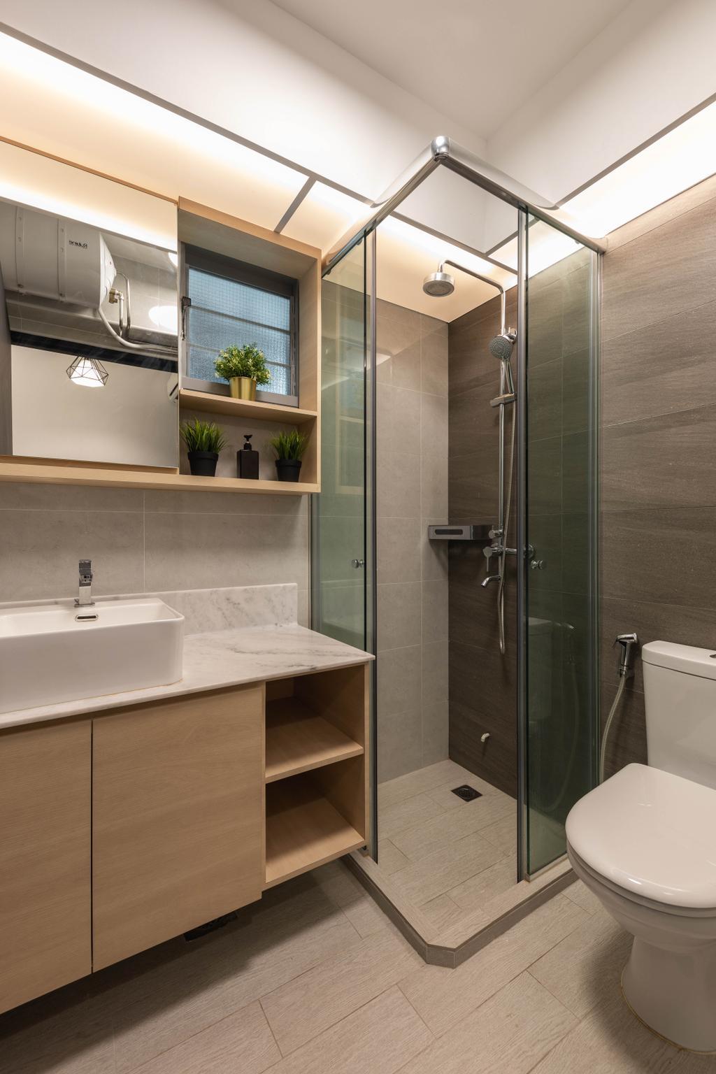 Contemporary, HDB, Bathroom, Edgedale Plains, Interior Designer, Tid Plus Design
