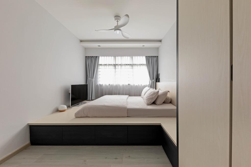 Contemporary, HDB, Bedroom, Yishun Street 51, Interior Designer, Tid Plus Design