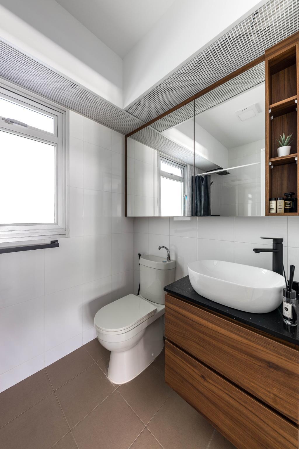 Contemporary, HDB, Bathroom, Corporation Drive, Interior Designer, Tab Gallery