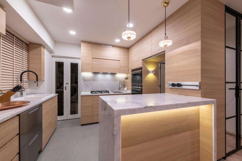 Contemporary, HDB, Kitchen, Pinnacle @ Duxton, Interior Designer, Posh Home