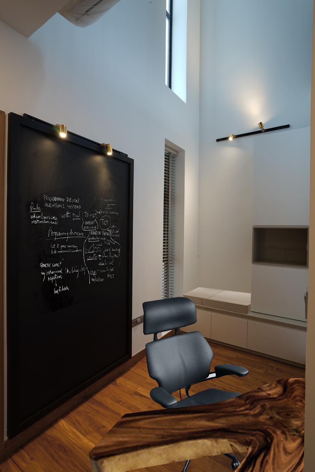 Contemporary, Landed, Study, Luxus Hills, Interior Designer, Metamorph Design