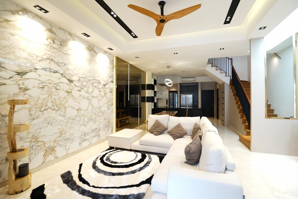 Contemporary, Landed, Living Room, Luxus Hills, Interior Designer, Metamorph Design