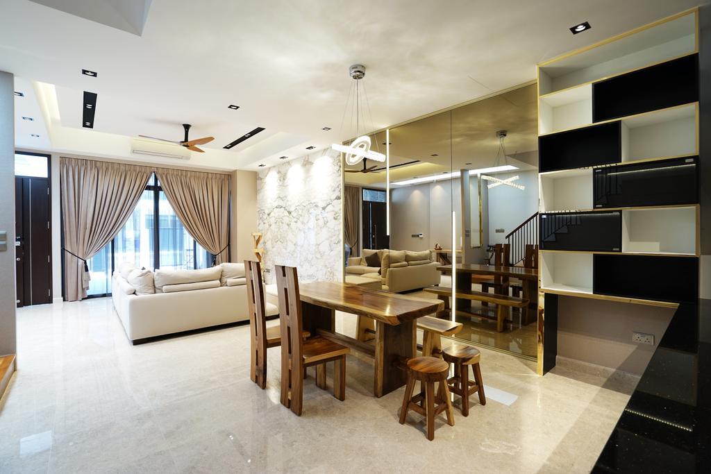 Contemporary, Landed, Dining Room, Luxus Hills, Interior Designer, Metamorph Design