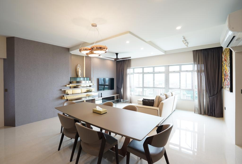 Contemporary, HDB, Dining Room, Ang Mo Kio Avenue 1, Interior Designer, Metamorph Design