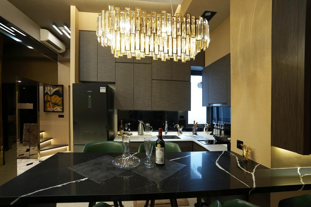 Transitional, Condo, Dining Room, Sims Urban Oasis, Interior Designer, Metamorph Design