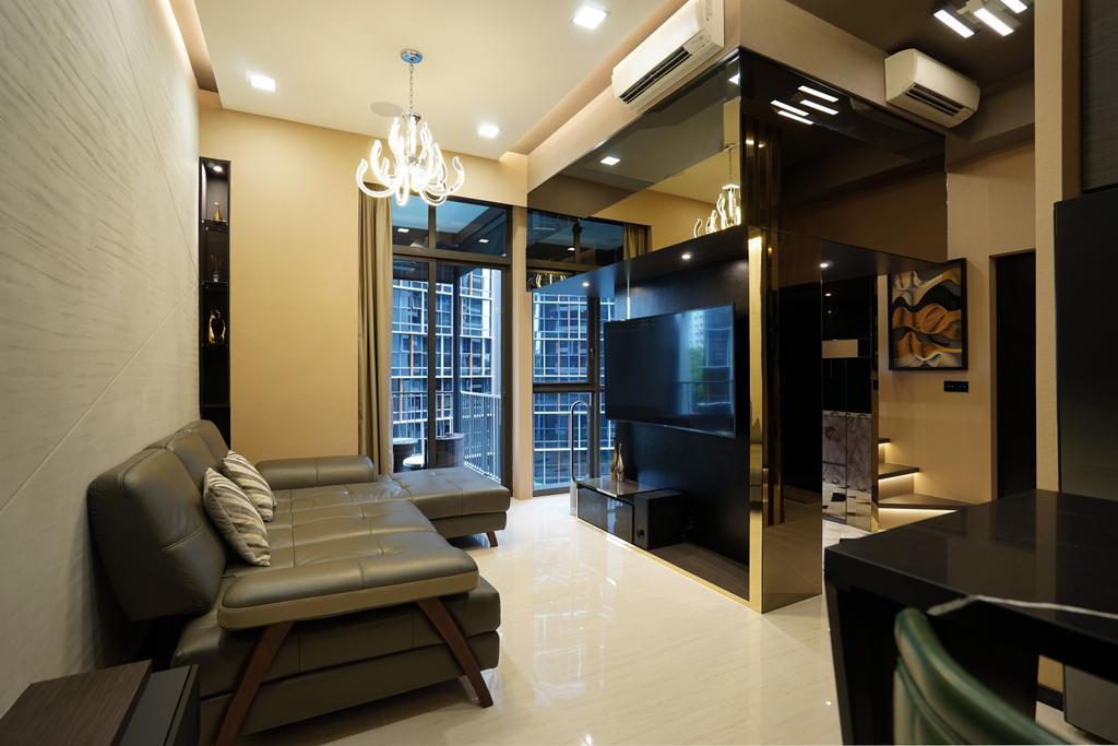 Transitional, Condo, Living Room, Sims Urban Oasis, Interior Designer, Metamorph Design