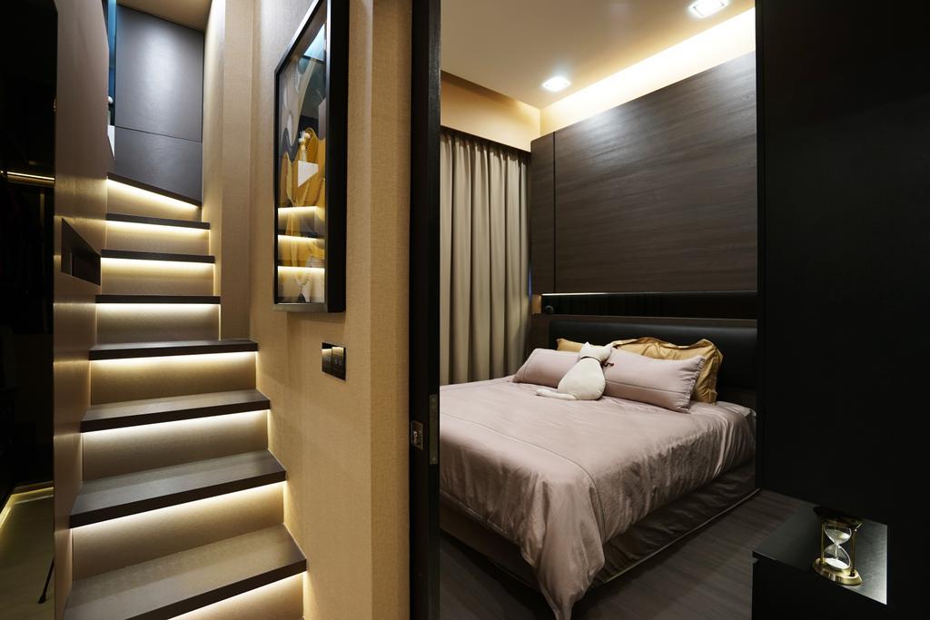 Transitional, Condo, Bedroom, Sims Urban Oasis, Interior Designer, Metamorph Design