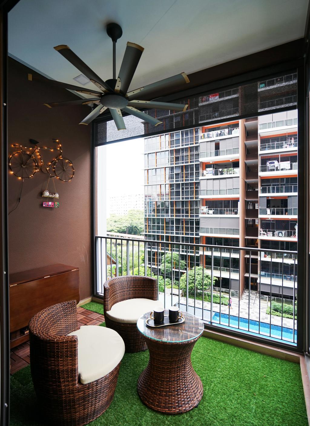 Transitional, Condo, Balcony, Sims Urban Oasis, Interior Designer, Metamorph Design