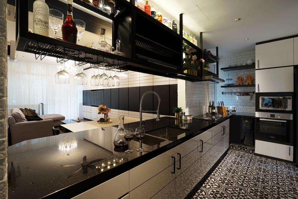 Contemporary, Condo, Kitchen, Country Park, Interior Designer, Metamorph Design