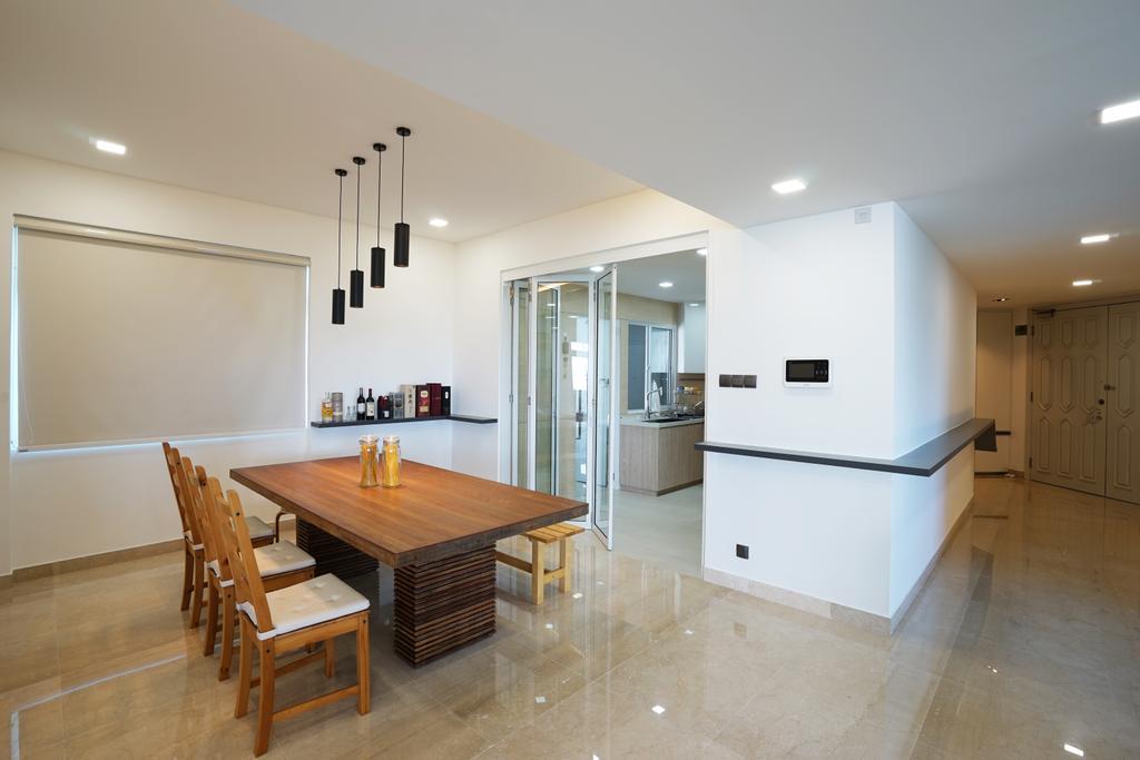 Contemporary, Condo, Dining Room, The Waterside, Interior Designer, Metamorph Design