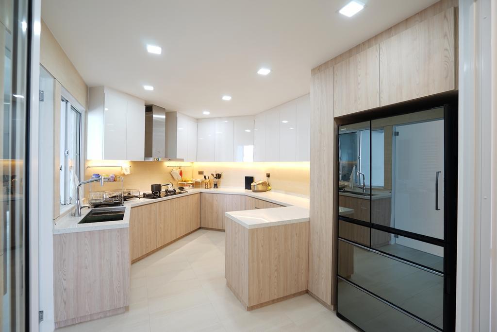 Contemporary, Condo, Kitchen, The Waterside, Interior Designer, Metamorph Design