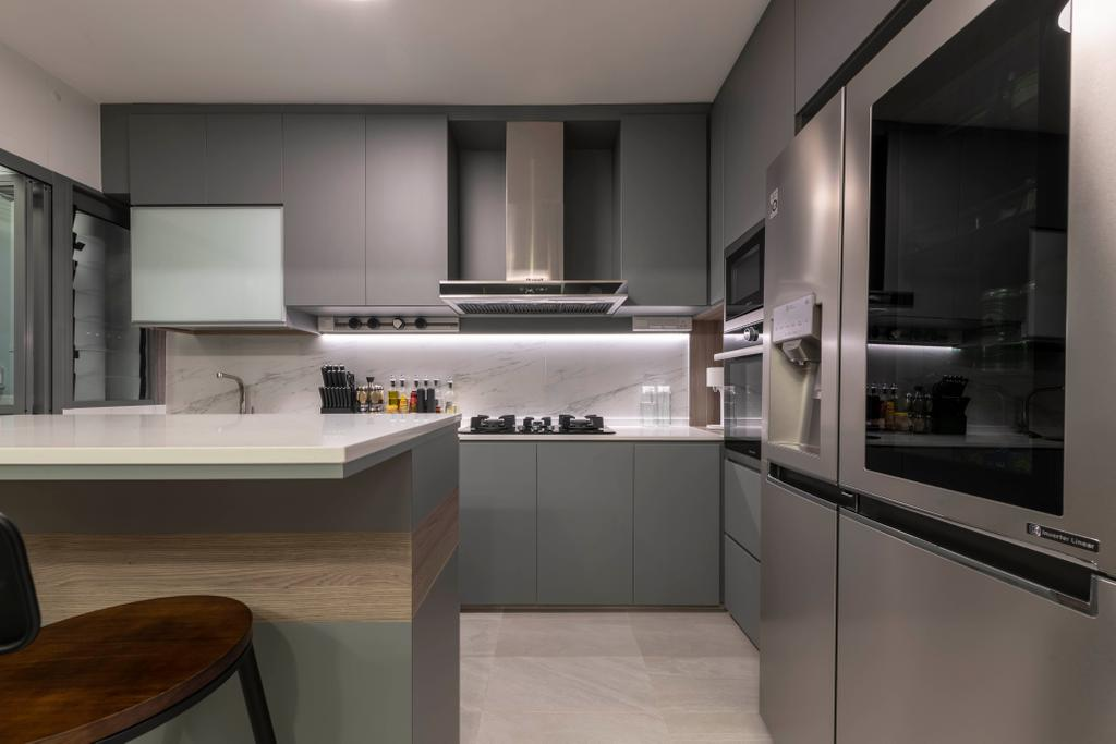 Contemporary, HDB, Kitchen, Punggol East, Interior Designer, Project Guru