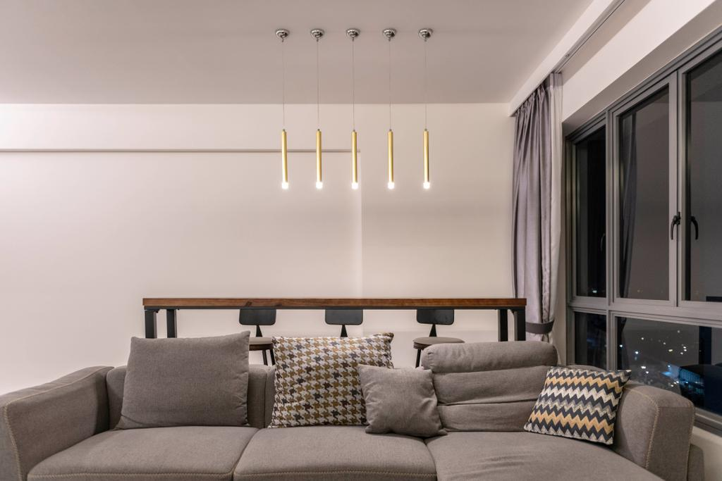 Contemporary, HDB, Living Room, Punggol East, Interior Designer, Project Guru