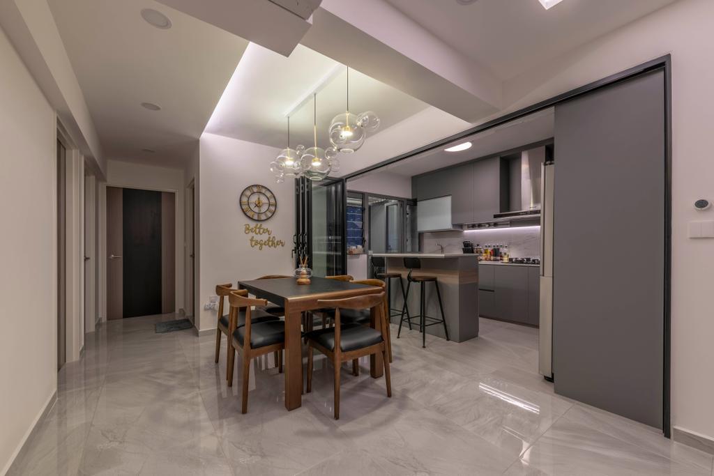 Contemporary, HDB, Dining Room, Punggol East, Interior Designer, Project Guru