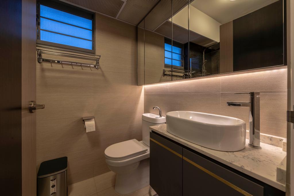 Contemporary, HDB, Bathroom, Punggol East, Interior Designer, Project Guru