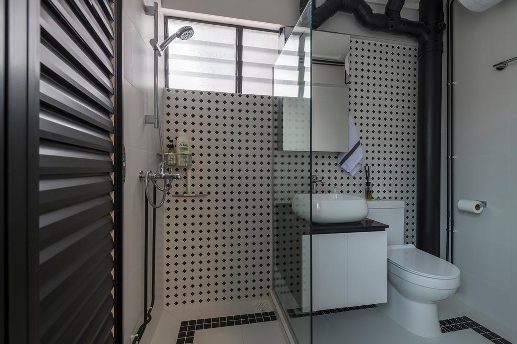 Contemporary, HDB, Bathroom, Bedok South Road, Interior Designer, Metier Planner