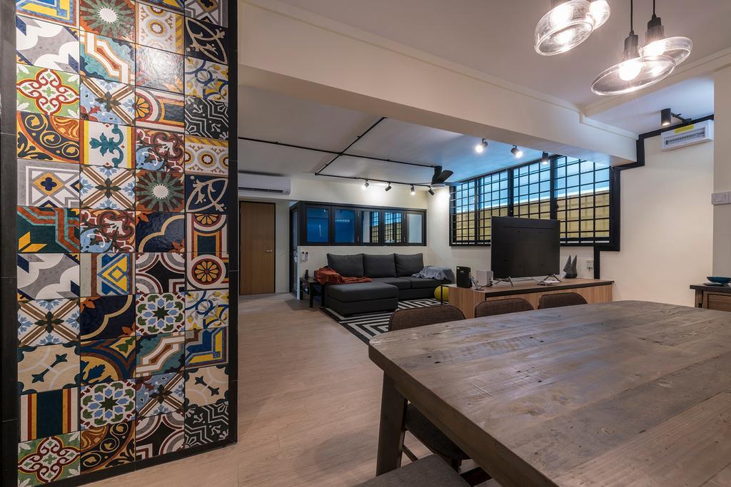 Contemporary, HDB, Dining Room, Bedok South Road, Interior Designer, Metier Planner