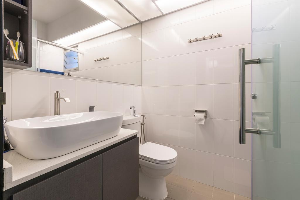Contemporary, HDB, Bathroom, Woodlands Drive, Interior Designer, Metier Planner
