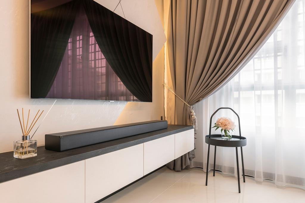 Contemporary, HDB, Living Room, Woodlands Drive, Interior Designer, Metier Planner