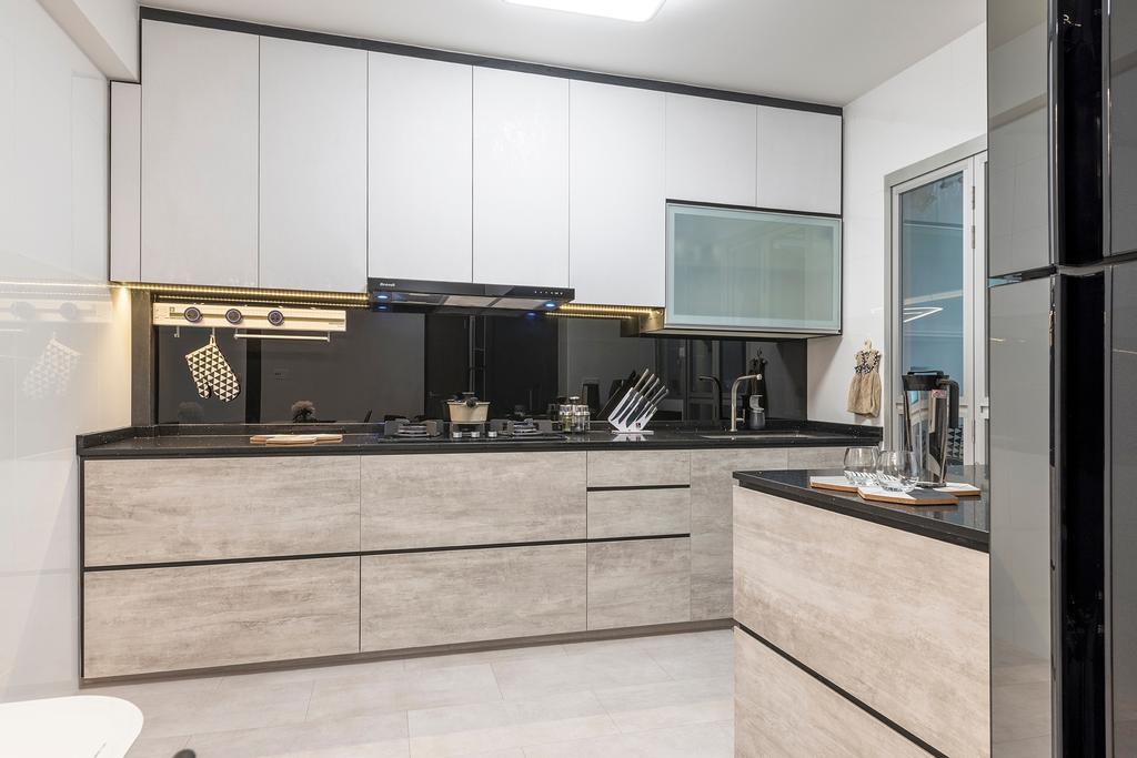 Contemporary, HDB, Kitchen, Woodlands Drive, Interior Designer, Metier Planner