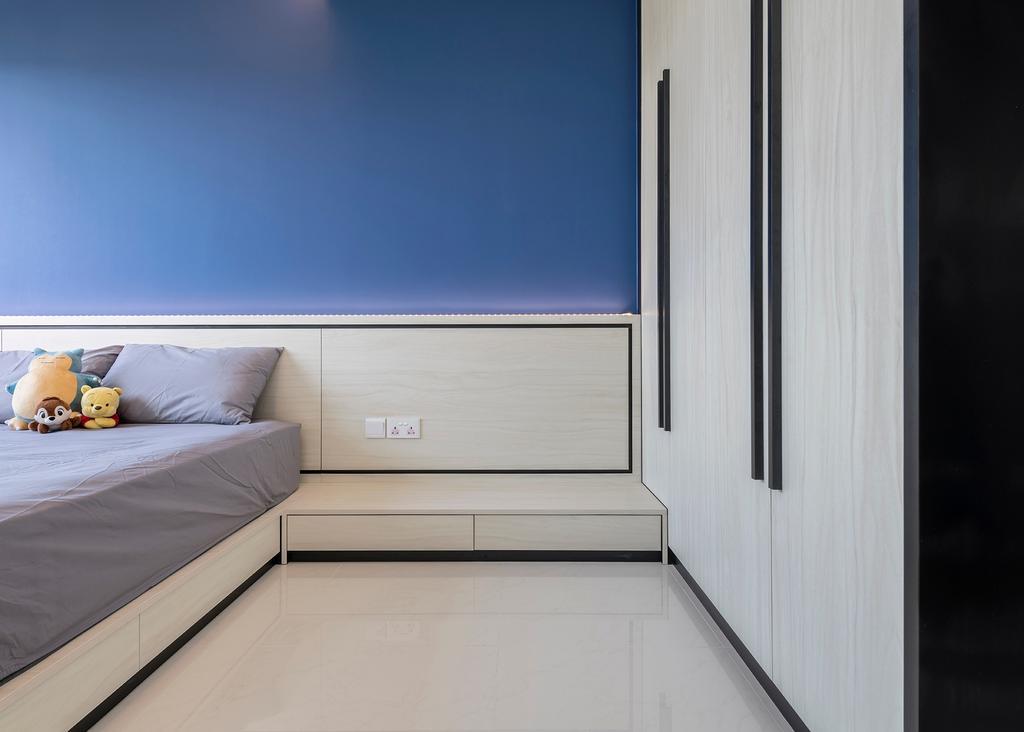 Contemporary, HDB, Bedroom, Woodlands Drive, Interior Designer, Metier Planner