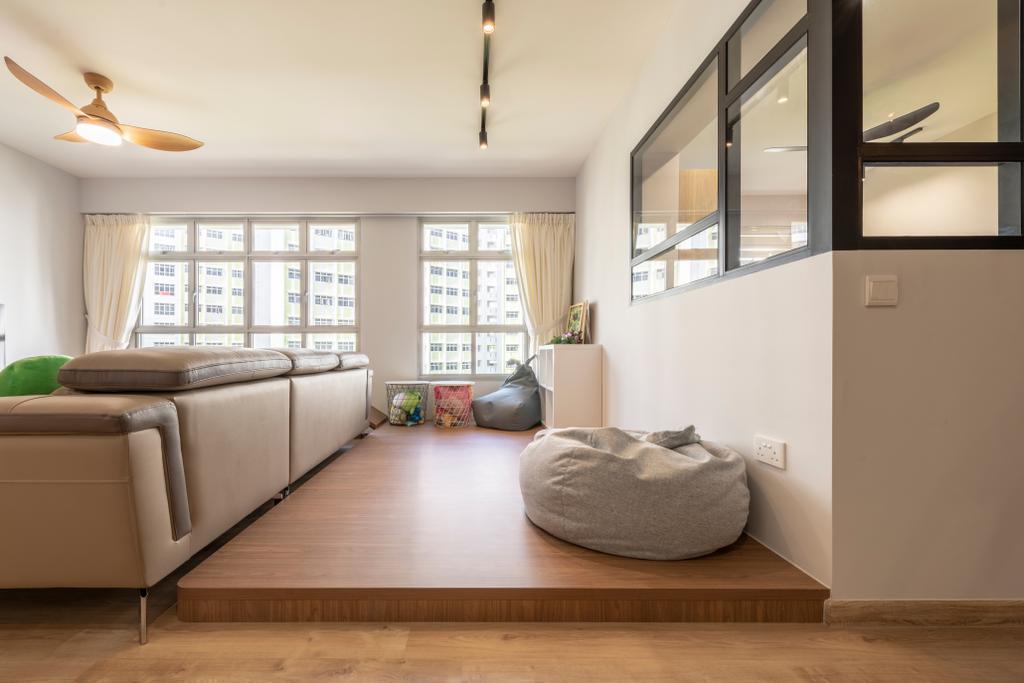 Contemporary, HDB, Living Room, Yishun Avenue 4, Interior Designer, Metier Planner