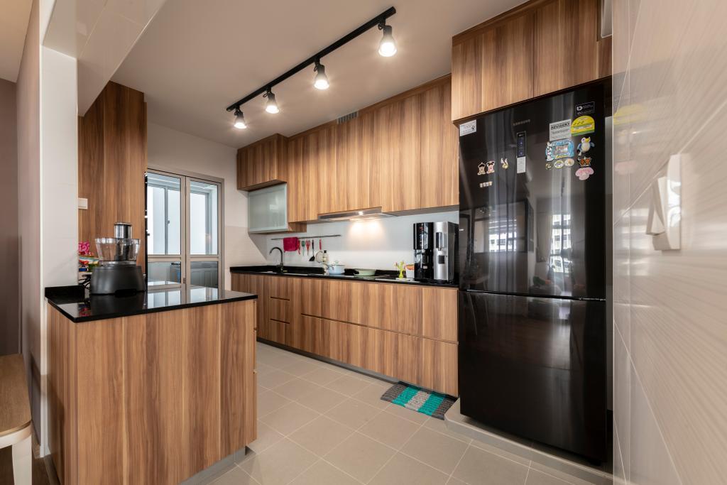 Contemporary, HDB, Kitchen, Yishun Avenue 4, Interior Designer, Metier Planner