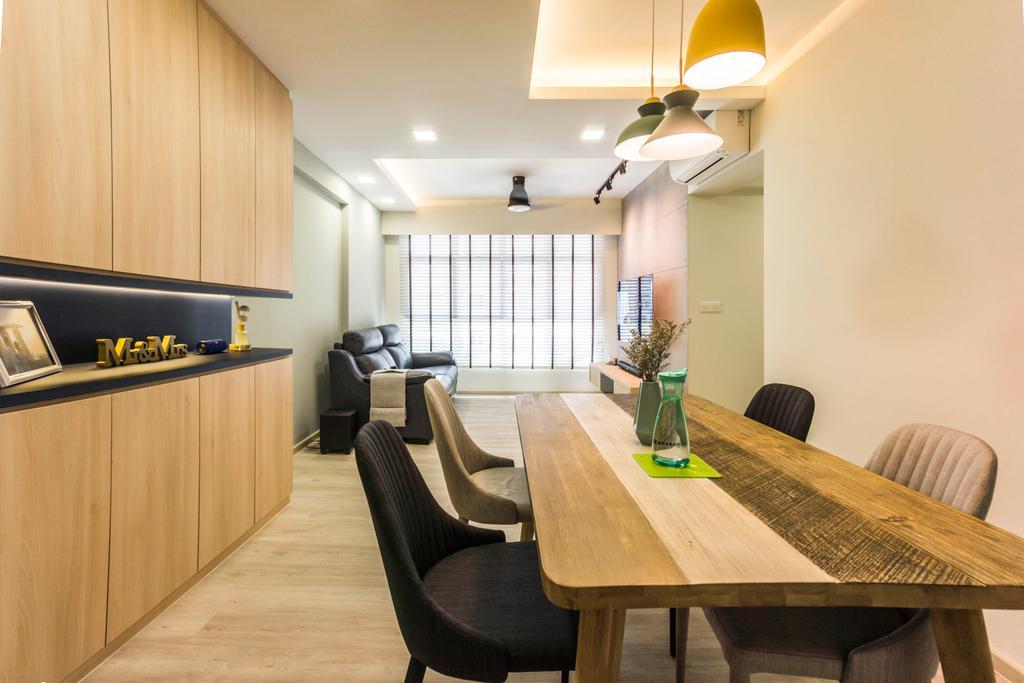 Contemporary, HDB, Dining Room, Bukit Batok West Avenue 6, Interior Designer, Flo Design
