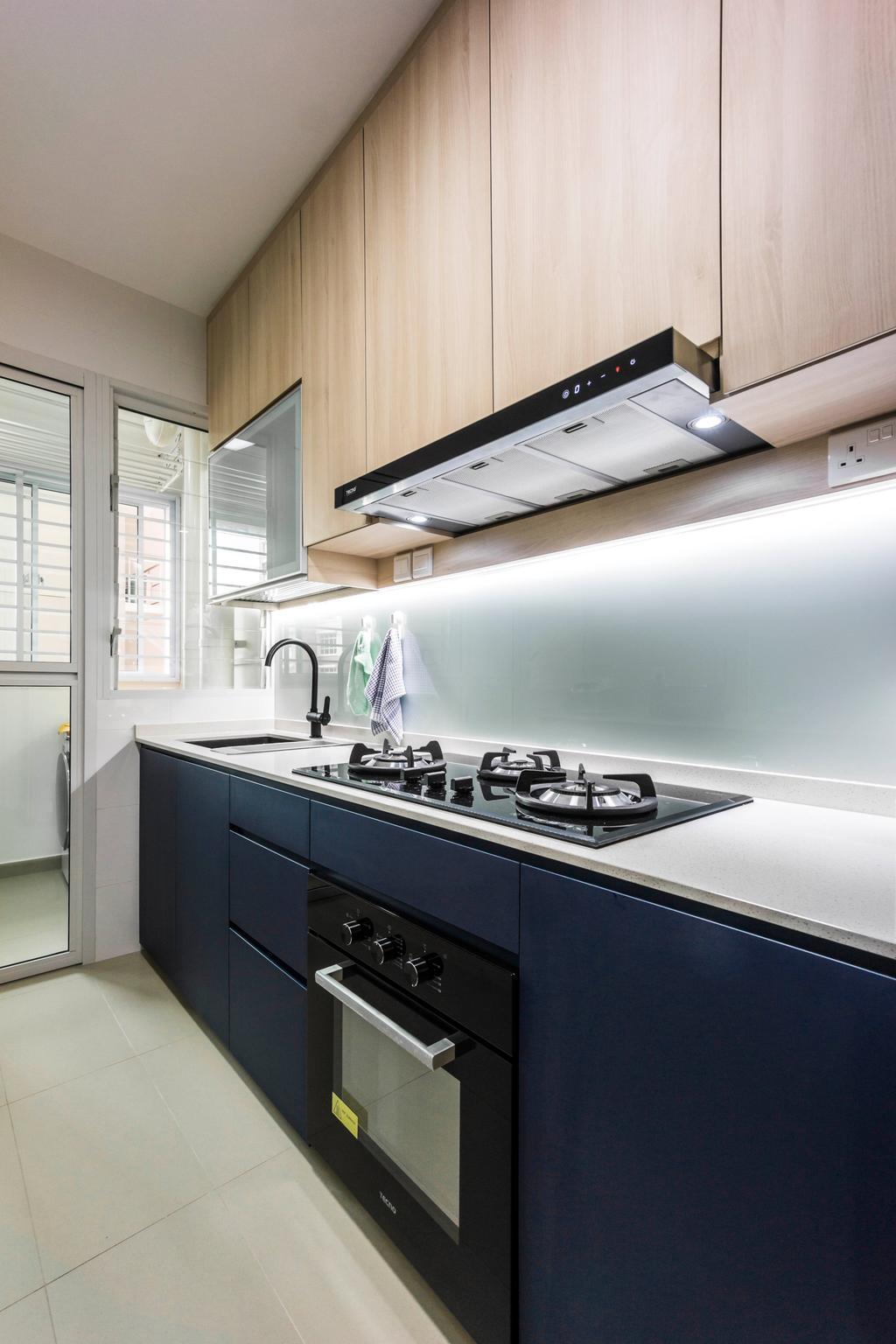 Contemporary, HDB, Kitchen, Bukit Batok West Avenue 6, Interior Designer, Flo Design