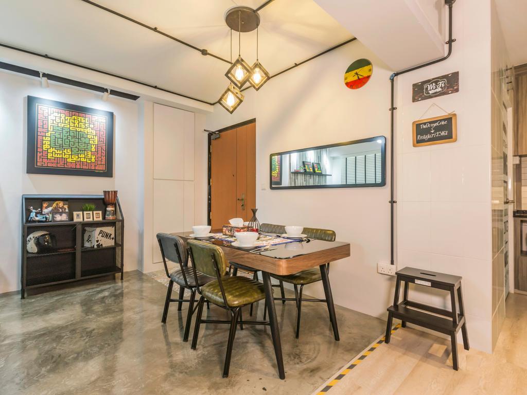 Contemporary, HDB, Dining Room, Clementi Avenue 4, Interior Designer, Urban Design House, Industrial