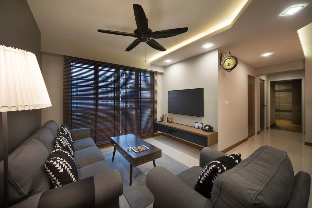 Contemporary, HDB, Living Room, Mcnair Road, Interior Designer, Urban Design House