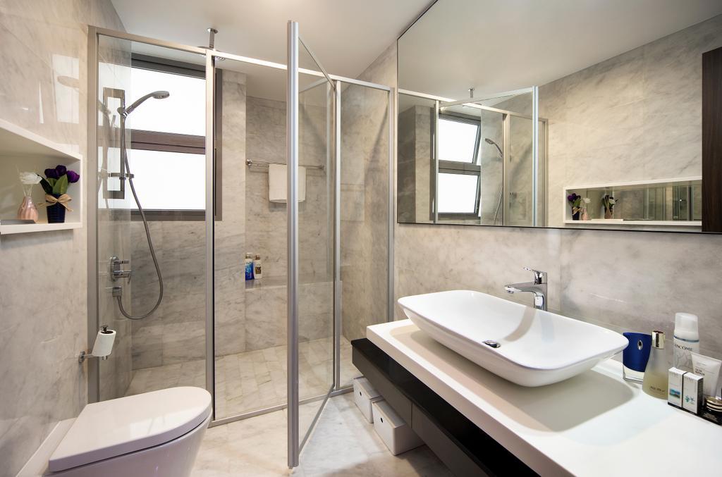 Transitional, Landed, Bathroom, Springside View, Interior Designer, Urban Design House