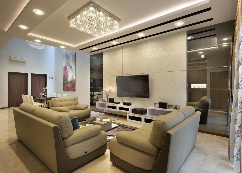 Transitional, Landed, Living Room, Springside View, Interior Designer, Urban Design House
