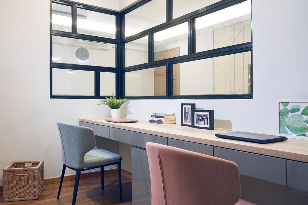 Scandinavian, Condo, Study, Wandervale, Interior Designer, Jubilee Interior