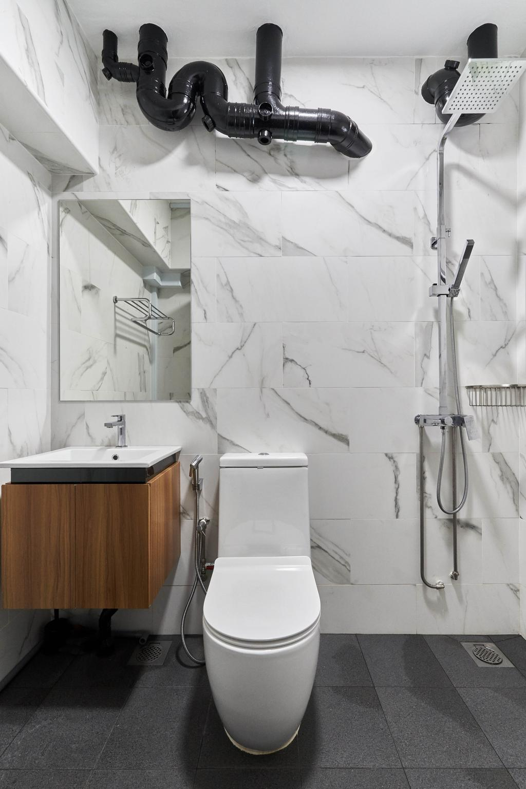Contemporary, HDB, Bathroom, Bukit Panjang Ring Road, Interior Designer, Tab Gallery