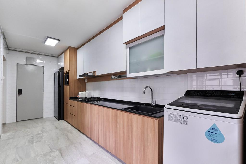 Contemporary, HDB, Kitchen, Bukit Panjang Ring Road, Interior Designer, Tab Gallery