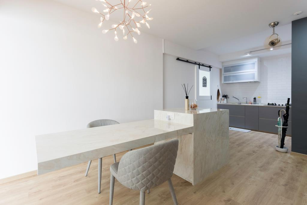 Contemporary, HDB, Dining Room, Cassia Crescent, Interior Designer, Charlotte's Carpentry