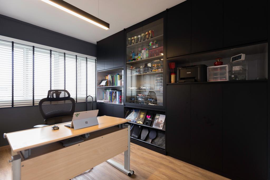 Contemporary, HDB, Study, Cassia Crescent, Interior Designer, Charlotte's Carpentry
